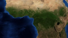 4K West Africa from space - slow tilt Stock Footage