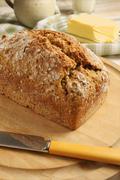 Irish wheaten bread - stock photo