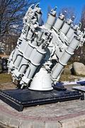 soviet ship missile launcher. kaliningrad (koenigsberg before 1946), russia - stock photo