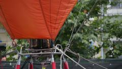 hot air baloon burner starting - stock footage