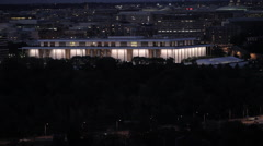 Kennedy Center at Night | Washington DC Stock Footage