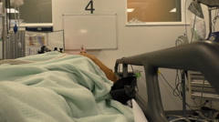 Measuring oxygen level in hospital Stock Footage