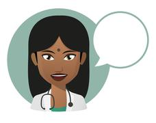 female doctor indian avatar - stock illustration