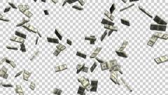 Stack of bill falling- ALPHA Stock Footage