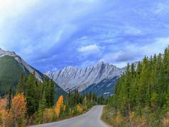 Icefield Parkway - stock photo