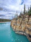 Athabasca Falls - stock photo