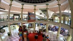Shopping Mall Rotunda, fisheye video lens Stock Footage