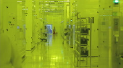 Semiconductor manufacturing plant Stock Footage