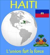 Haiti location emblem motto Stock Illustration