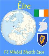 Ireland location emblem motto - stock illustration