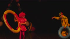 clowns on stage 7 4k - stock footage
