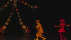 Clowns on stage 4 4k Stock Footage