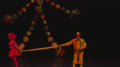 clowns on stage 4k - stock footage