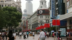 Nanjing Road in Shanghai, China, BlackMagic 4K Camera Stock Footage
