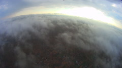 Aerial view above the Clouds Stock Footage