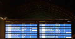 Train Departure Timetable Time Schedule Board Railway Station Display Info Night Stock Footage