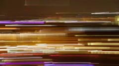 City neon lights, long exposure light traces, night disco party, click for HD Arkistovideo