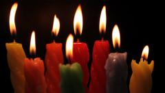 Rotating Candles - stock footage