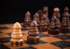 chess, one against all concept. - stock photo