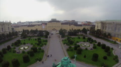 Monument of Maria Theresa in Vienna platz, Museumsquartier, click for HD Stock Footage