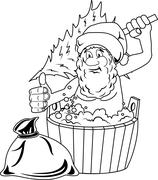 Jolly Santa Claus Stock Illustration