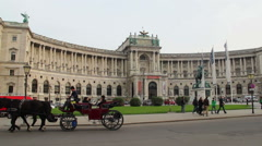 OSCE establishing shot, headquarters in Vienna Austria, old city, click for HD Stock Footage
