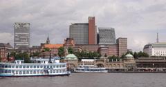 Steamboat Arrival Hamburg Port Paddle Steamer Louisiana Star Sightseeing Tours Stock Footage