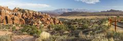 Fiery Furnace desert panorama - stock photo