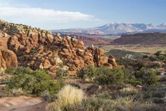 Fiery Furnace in Arches National Park - stock photo