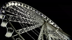 Budapest Eye - famous Ferris wheel in the night Stock Footage