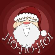 Santa faces Stock Illustration