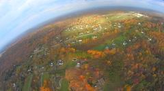 Fisheye Landing 4K Aerials Stock Footage