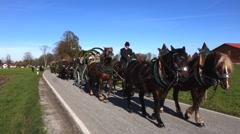 Leonhardi parade in benediktbeuern, upper bavaria, germany Stock Footage