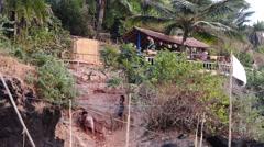 Hippie home near Sweet Lake at the Arambol beach Stock Footage