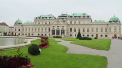 Close-up of Belvedere Vienna Austrian prince residence, Baroque, click for HD - stock footage