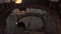 Walk trough Yashwantgad Fort - stock footage