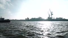 Ship in Hamburg Stock Footage
