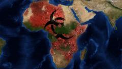 4k Ebola Virus Africa Animation Stock Footage