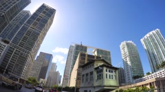Brickell Avenue Miami 1080 Stock Footage