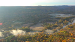 Stock Video Footage of Houstonic Valley 4K Aerials