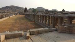 Pan around Vittala temple Stock Footage