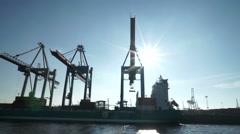 Hamburg habor docks Stock Footage