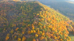Colorful ridge, Hudson Valley 4K Aerials Stock Footage