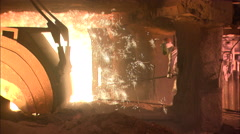 Blast furnace. Smelting iron. Stock Footage