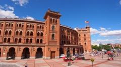 Las Ventas Bullring in Madrid, Spain Stock Footage