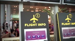 Details in Singapore Changi Airport Stock Footage