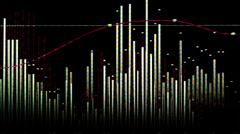 abstract music graphic equalise computer generated technology - stock footage