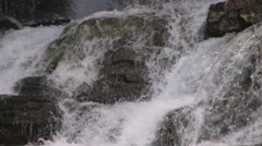 Running Eagle Waterfall closeup1 at 29.9fps - stock footage