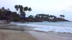 Evening at the Palolem beach - stock footage