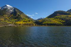 beaver lake near town of marble colorado - stock photo